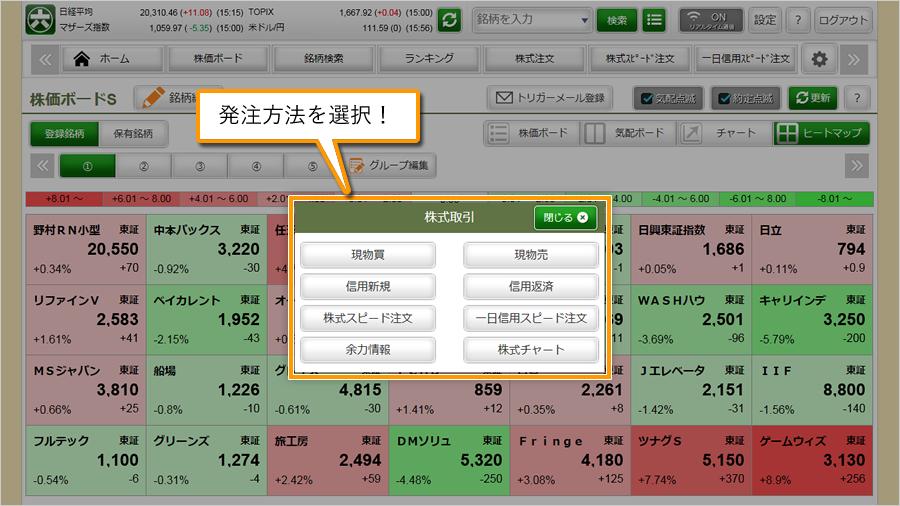 松井証券ネットストックスマート 松井証券、ネットストック・ハイスピードに新機能追加
